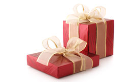 Red foil gifts Royalty Free Stock Photos