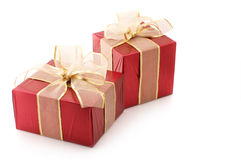 Red foil gifts Royalty Free Stock Photo