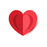 Red Folded Heart Royalty Free Stock Photography