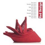 Red folded napkin Royalty Free Stock Photos