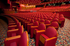 Red Folded Seats Royalty Free Stock Photos