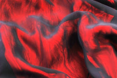 Red folded textile background Stock Photography