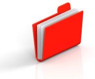 Red Folder. 3D render illustration of red archive folder Stock Images
