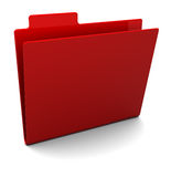 Red Folder Royalty Free Stock Photography