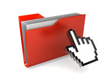Red Folder Royalty Free Stock Photos