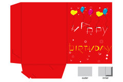 Red folder with balloons Stock Photography