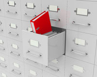 The red folder Royalty Free Stock Photo