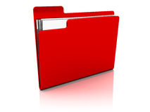 Red Folder Icon Royalty Free Stock Images