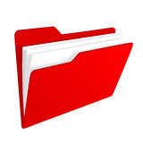 Red folder icon. 3d red folder icon isolated on white Royalty Free Stock Photos