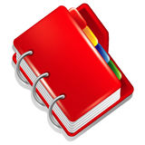 Red folder icon Stock Images