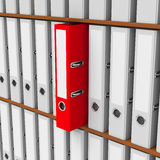 The red folder Royalty Free Stock Image