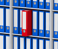 The red folder Stock Photography
