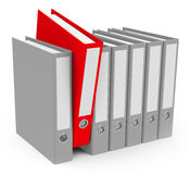 The red folder Royalty Free Stock Photography