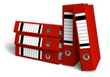 Red folders. Set of red folders isolated over white background Royalty Free Stock Image