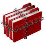 Red folders with chain Royalty Free Stock Image