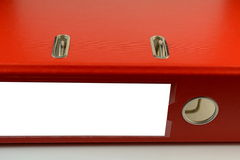 Red folders Stock Images
