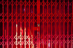 Red Folding Door Royalty Free Stock Photography