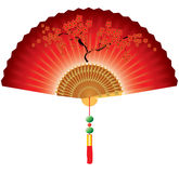 Red folding fan Royalty Free Stock Image