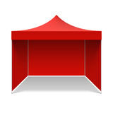 Red folding tent Royalty Free Stock Photo