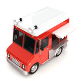 Red food truck Royalty Free Stock Photo
