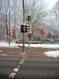 The red foot traffic light. Image of the red foot traffic light Royalty Free Stock Image