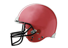 Red Football Helmet. A Red american football helmet on a white background Royalty Free Stock Photos