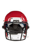 Red Football Helmet Front View Stock Photo