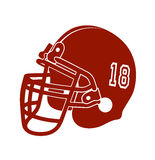 Red football helmet isolated over white background Stock Image