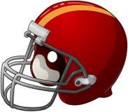 Red Football Helmet. A vector illustration of a red football helmet royalty free illustration