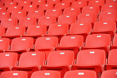 Red football seats Royalty Free Stock Photo