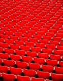 Red football stadium seat. Royalty Free Stock Image