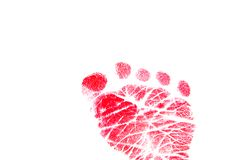 Red Footprint Royalty Free Stock Photo