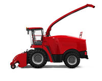 Red Forage Harvester Royalty Free Stock Photos