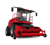 Red Forage Harvester Royalty Free Stock Images