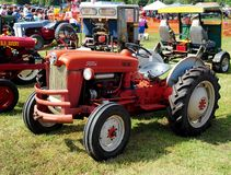 Red Ford antique farming tractor. Stock Photo