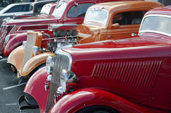 1936 Red Ford in a Classic Car Show Stock Photo