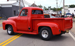1955 Red Ford Classic Truck Stock Images
