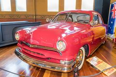 Red Ford 1951 hot rod car