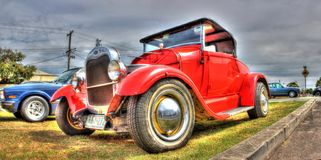Red Ford hot rod Royalty Free Stock Photo