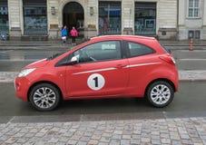 Red Ford Ka car in Copenhagen Stock Photos