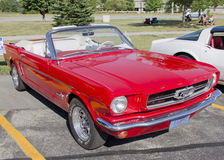 Red Ford Mustang Convertible Stock Image