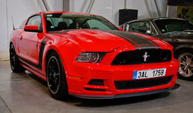 Red Ford Mustang Royalty Free Stock Photography