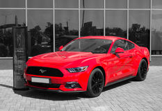 Red Ford Mustang Shelby GT350R - selective color isolation  Stock Photography