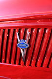 Red ford with v8 logo Royalty Free Stock Image