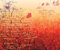 Red forest Stock Photography