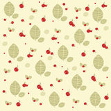 Red forest berrys with green leafs Print. Red forest berrys with green leafs wild Royalty Free Stock Photography