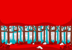 Red forest with trees Royalty Free Stock Image