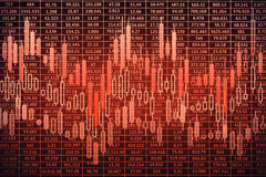 Red forex background Royalty Free Stock Photography