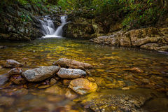Red Fork cascade, Tennessee. Cascade below Red Fork Falls in the Unaka mountain range of Tennessee. n Royalty Free Stock Photography