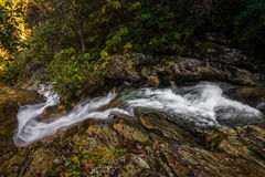 Red Fork Falls Cascade. The flow of the water below Red Fork Falls in the Unaka mountain range in Tennessee Royalty Free Stock Photography